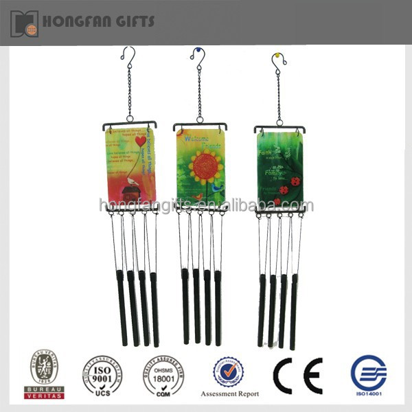 Colorful garden metal iron wind chimes