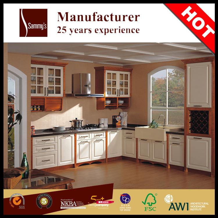 Kitchen Cabinet Solid Wood White Color Cabinet Door With Hanging Glass Door Buy Wood Glass