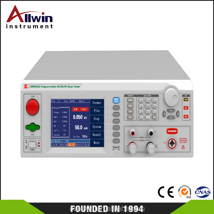 CS9932AS Programmable AC DC IR GR hipot tester electrical safety tester
