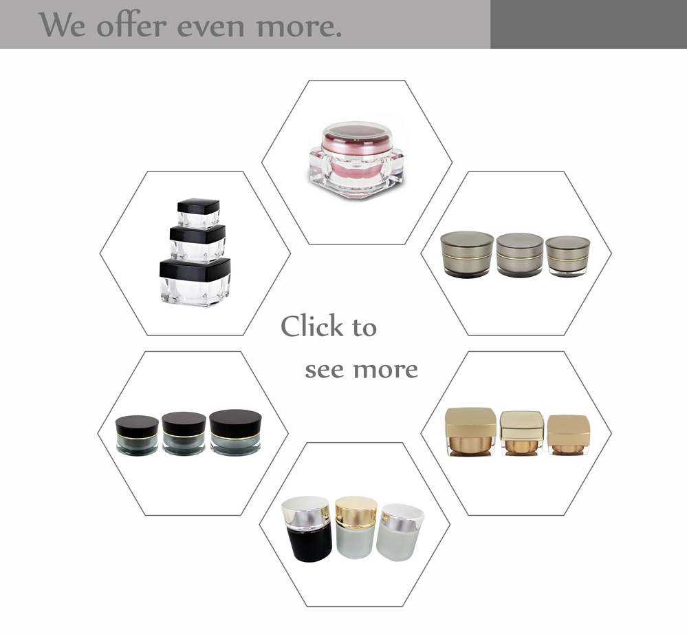 Cosmetic Cream Face Powder Blusher Foundation Container Pots With Sifter And Black Rimmed Lid skincare glass square jars