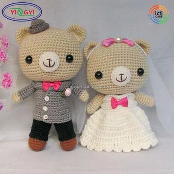 A828 Hochwertigen Paar Tier Gefüllte Puppe Spielzeug Häkeln Puppe
