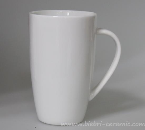 Plain White Ceramic Porcelain Coffee Tea Mugs Cups For Logo Decal Artwork Design Printing Mug