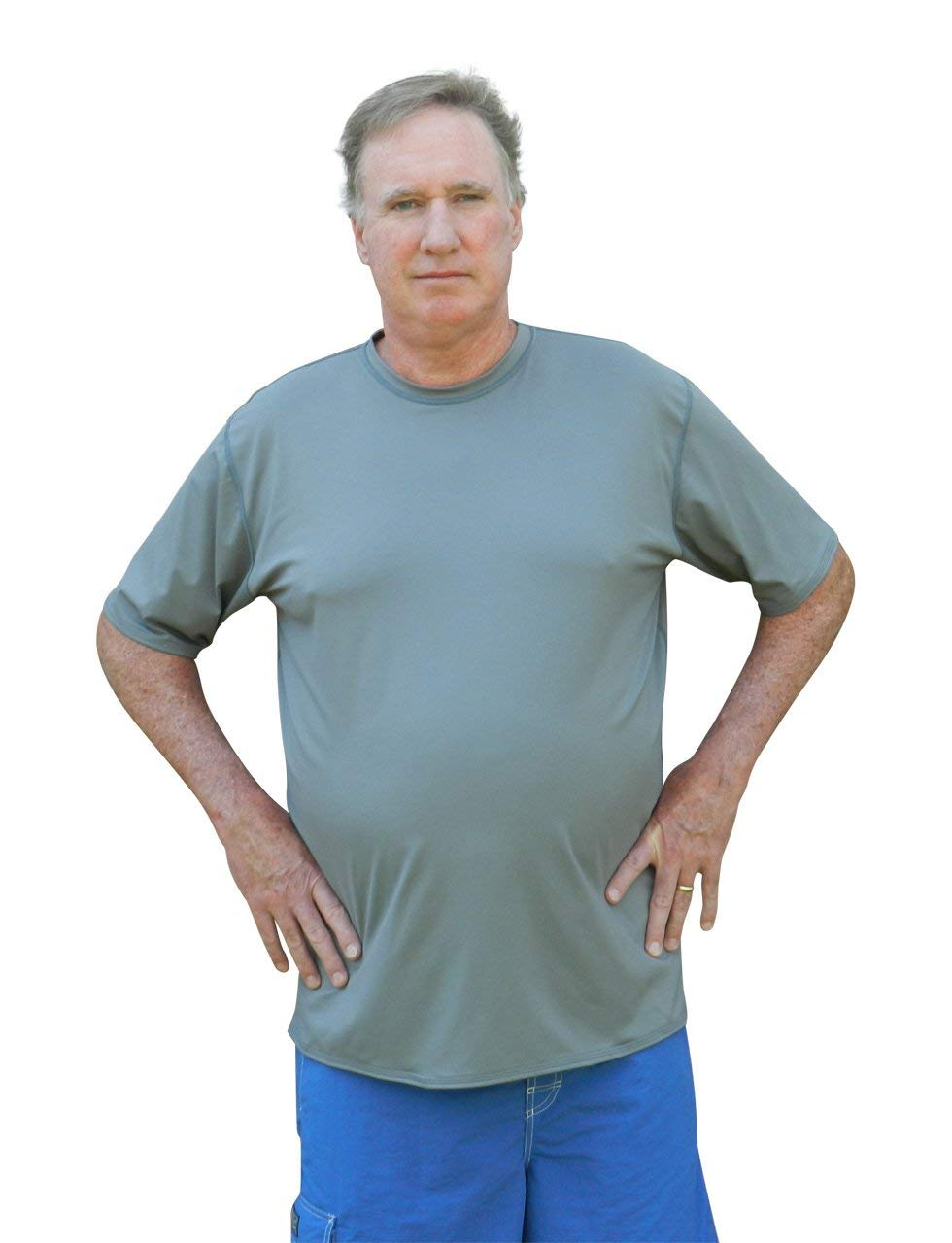 882736cef78c0 Get Quotations · Plus Size Rash Guard Swim Shirt - UV Sun Protection -  Chlorine Proof