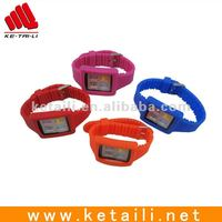 fashion silicone phone case for ipod nano 5 with wristband