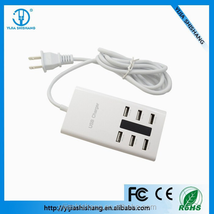 Bank Transfer Available 7.2A 6 Port Wall USB Charger for samsung, iphone