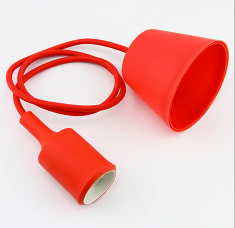 Wholesale Vintage Silicone Pendant Ceilling Wall Lamp Adjustable E27 Silicone Lamp Holder with Wire