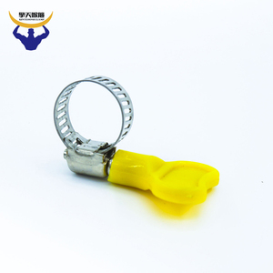 430 German galvenized wing nut water hose clamp with turn key