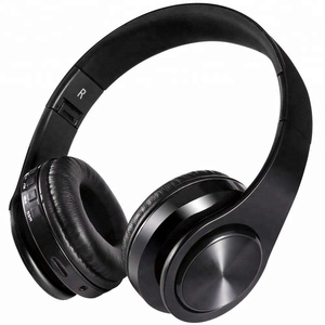 High Sound Quality OEM HD Stereo Lightweight Foldable Dual Modes Wired  Wireless Over Ear Bluetooth Headphone With TF card Slot