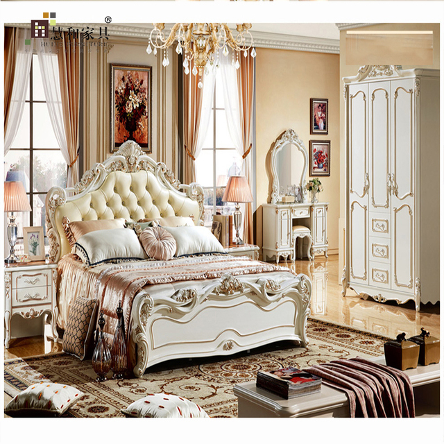 Custom European Bedroom Furniture Set Royal Luxury,European Bedroom  Furniture