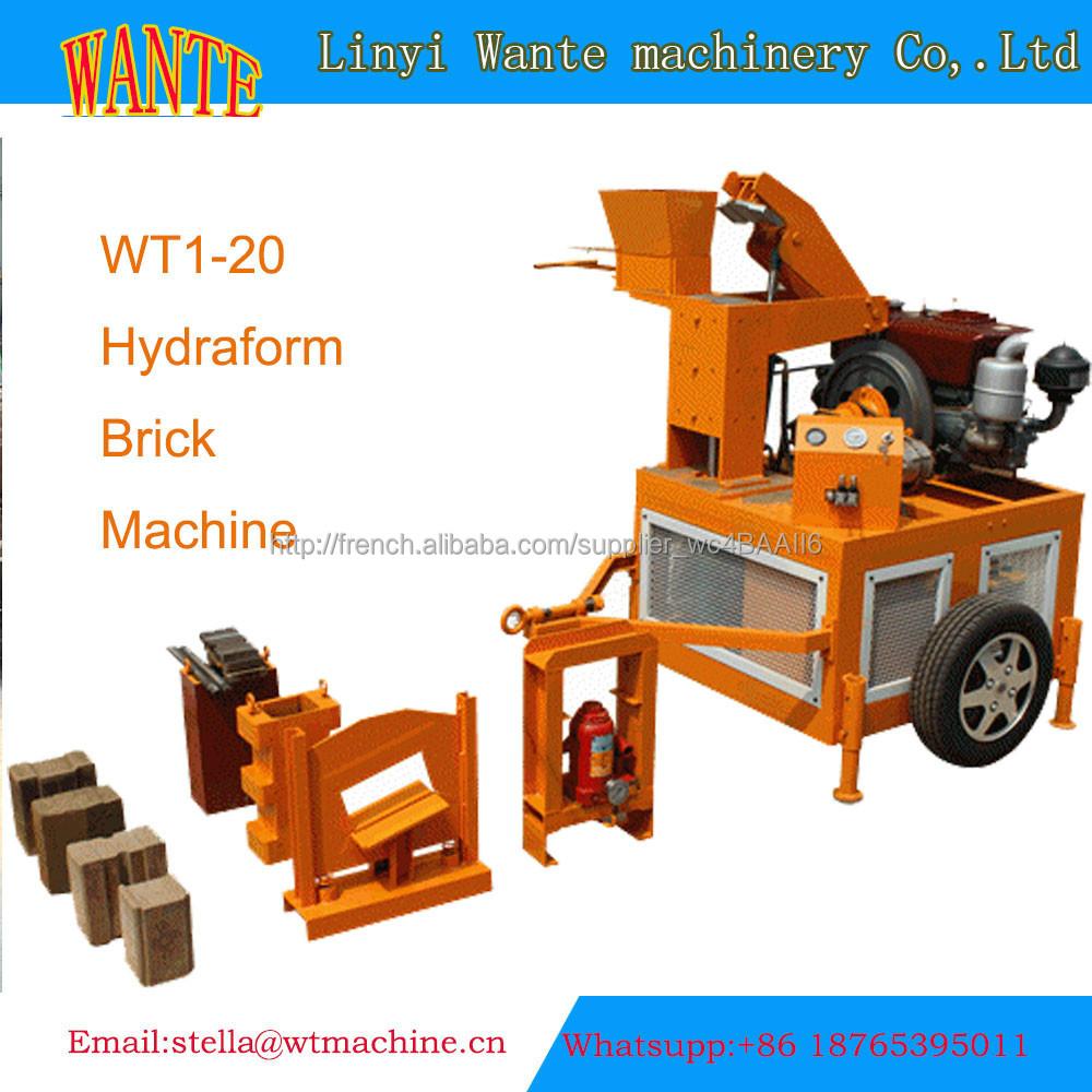 Wt1 20 m7m1 presse brique terre crue brique autobloquant