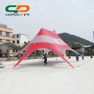 14x19m events star shaded aluminum outdoor canopy tent with colorful fabric for sale