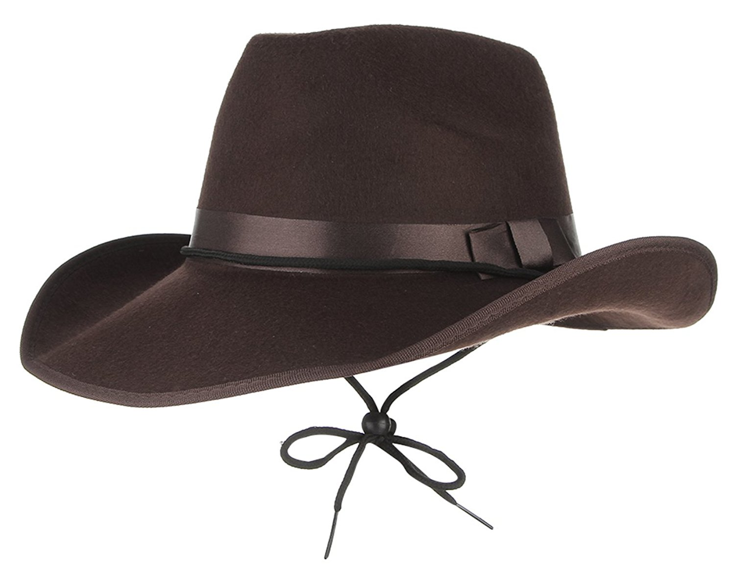 Get Quotations · Jelord Men Faux Felt Wide Brim Western Cowboy Hat Fancy  Dress Party Hats ac68ad7b57f2