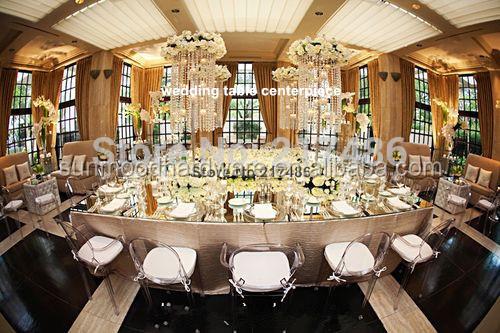 ltimo precio barato de cristal central de la boda boda candalbra para decoracin de la