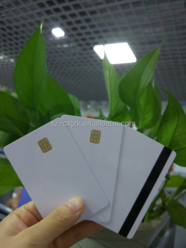 Inkjet printable contact IC cards for bank Card