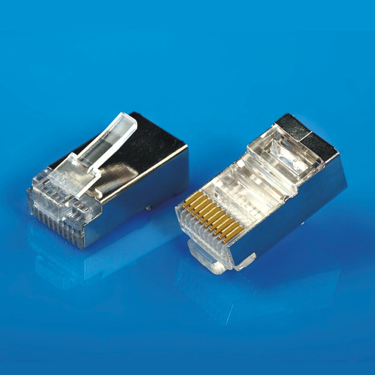 XL-603 High Quality gold plating Shield FTP <strong>10</strong> pin connector rj45 plug with ten contacts Business phone