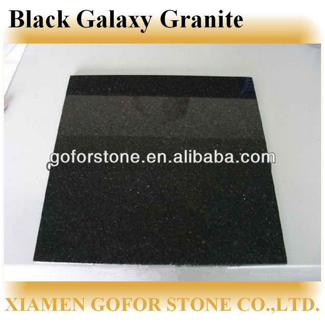 China Granite Floor Tiles Black Galaxy Wholesale Alibaba