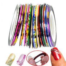 Dekorativné lepiace pásky na nechty 1 set = 10ks z Aliexpress