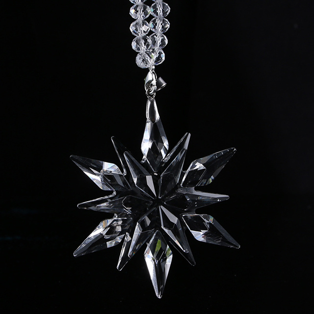 New Design K9 Crystal Snowflake Pendant for Car Ornament