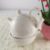 Teapot and cup in one Custom Design Ceramic White Porcelain Teapot Cup set