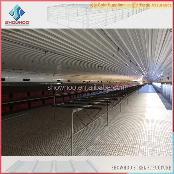 Low Cost Steel Poultry Shed Broiler Poultry Farm House Design Egg