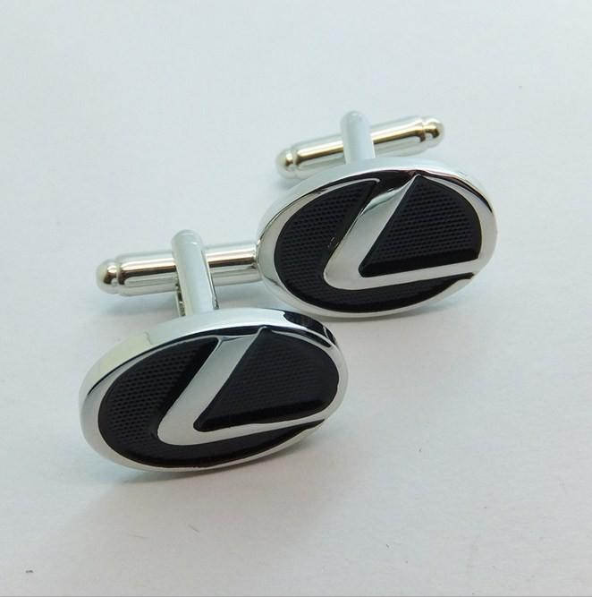 Factory Wholesale High Quality Silvery Custom Enamel Cufflink ...