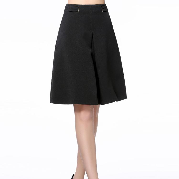 オフィス着用長い制服スカート