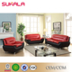 Sales korean style bright-colored sofa set black and red sofa