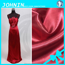 alibaba wed dress satin fabric 100% polyester satin for women dress