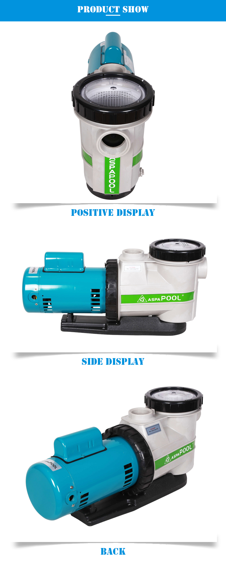 220v Variable Speed Endless Swimming Pool Pump For Sale