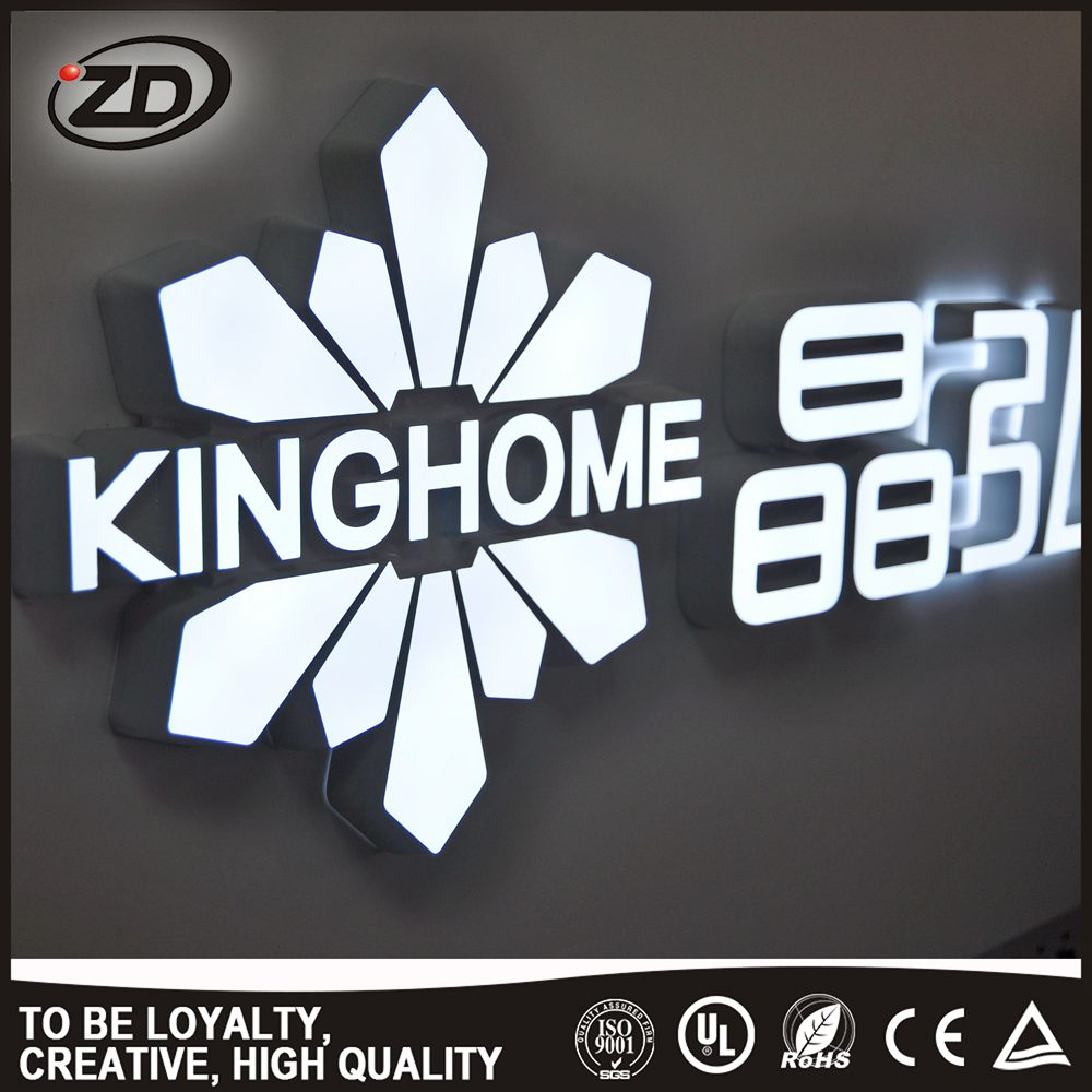 Fine Workmanship high quality 3d sign led commercial signs advertising acrylic letter