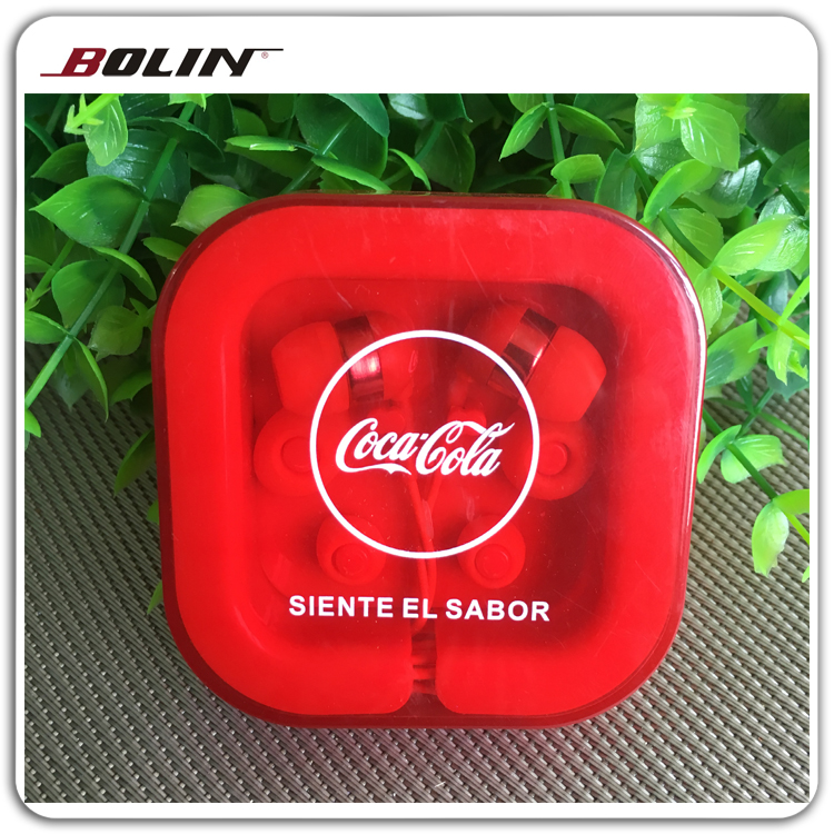 Hot Selling Promotion In-Ear Earphone Casefor Coca-Cola For Pepsi