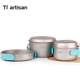Pure Titanium pot sets cookware for outdoor and camping folding and portable