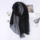 Custom Own Design Black Silk Scarf Shawls