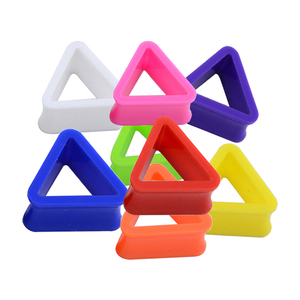 Factory wholesale piercing jewelry triangle shape multi color acrylic ear plug and tunnel