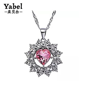 Wholesale Silver Plated Metal Chain Nepali Silver Jewellery 3A CZ Necklaces Gift For Women