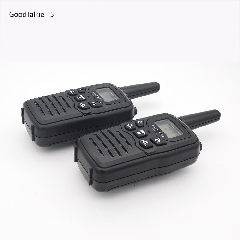 2 Pcs Goodtalkie T5 Jarak Jauh Dua Cara Radio Perjalanan Walkie Talkie 10Km