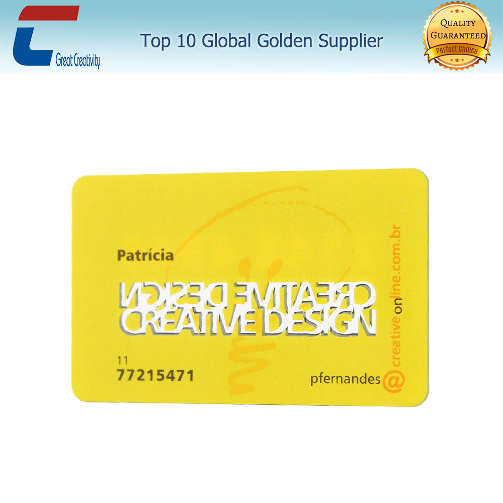 Best quality SGS embossing paper business card