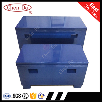 Customized Rigid Powder Coated Steel Outdoor Storage Worksite Tools  Cabinets /Jobsite Storage Boxes 3 In