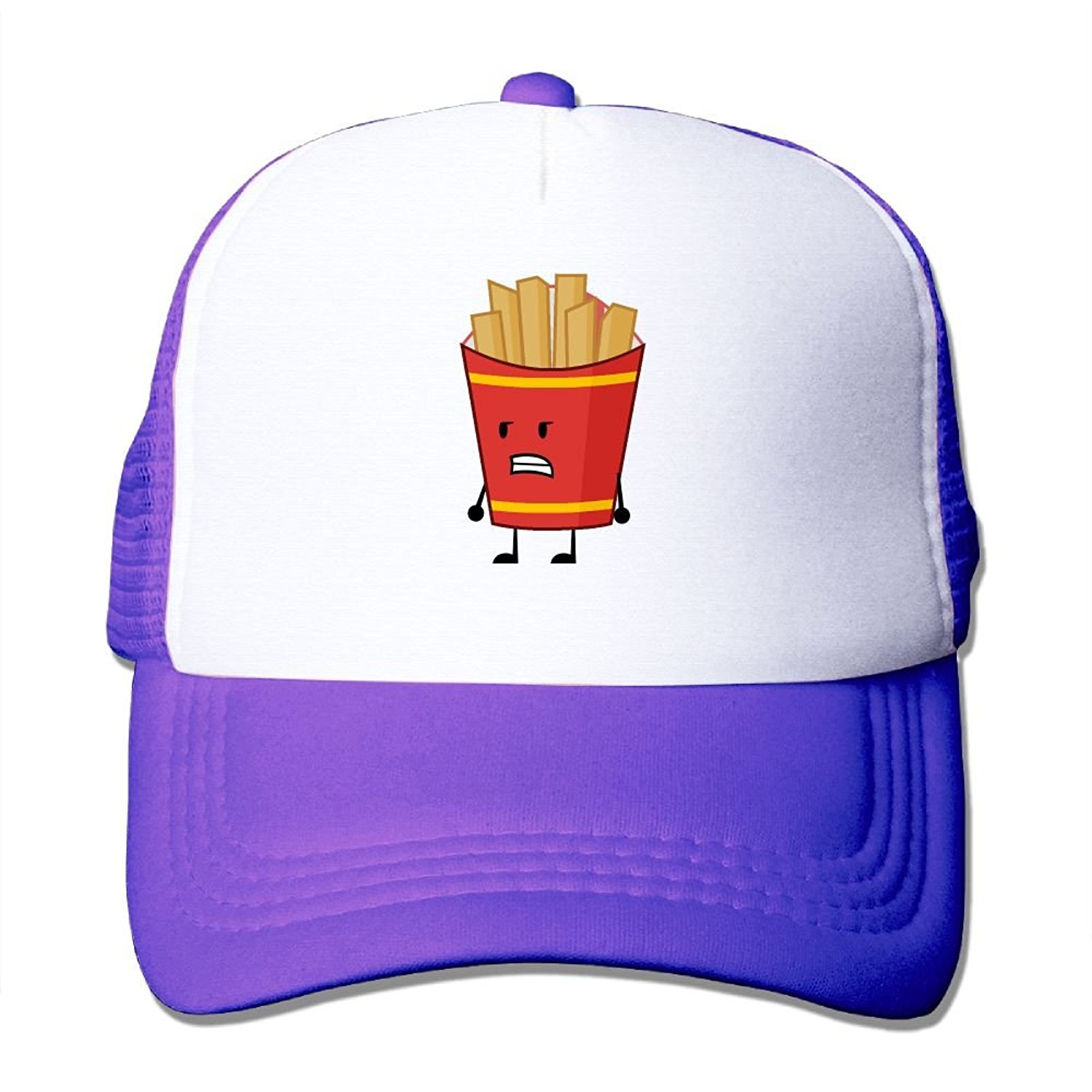 Crazy Popo Outdoor Sports Hat - French Fries Adjustable Trucker Hat Cap Adult Unisex Baseball Hat