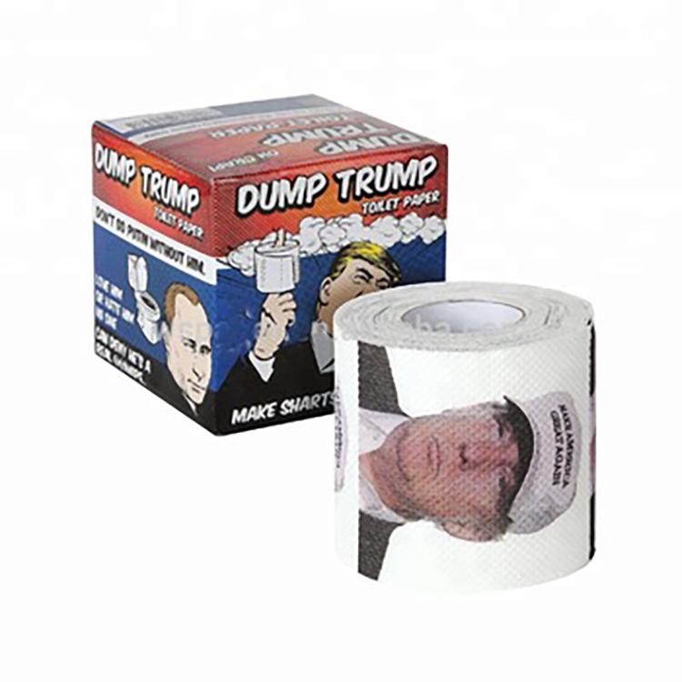 En gros Personnalisé Imprimé Donald Trump vente en vrac Papier Toilette