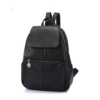 dfa591e496e Fashion Leisure Women Pu Leather Backpack,Ladies Fancy Black Backpack - Buy  Leather Backpack,Black Backpack,Ladies Fancy Backpack Product on ...