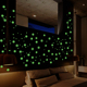 Kids excellent glow effect PP plastic fluorescent wall sticker for room decoration snow glow in dark stars