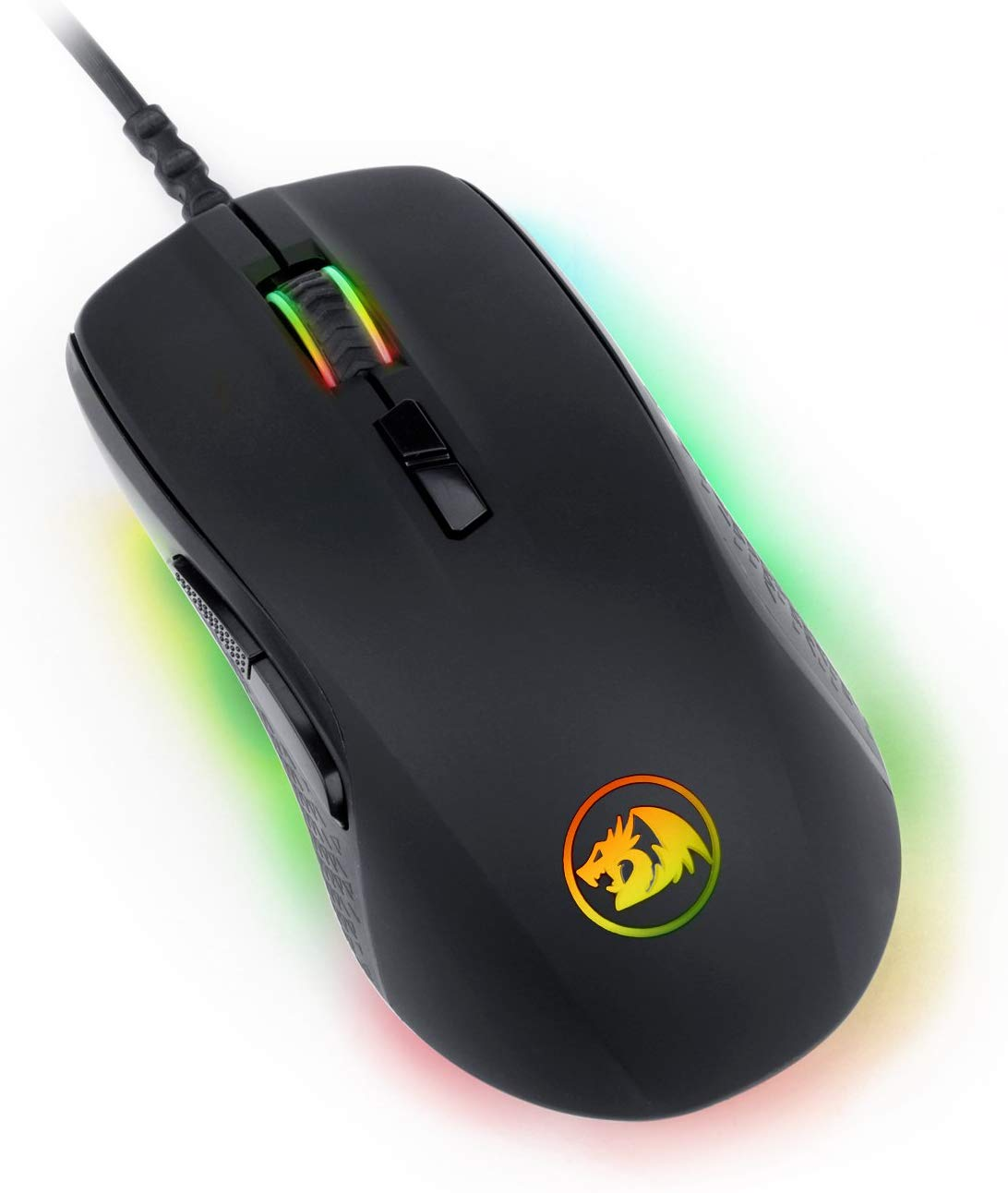 Redragon M718-RGB Optical Gaming Mouse RGB LED Backlit Wired MMO PC Gaming Mouse