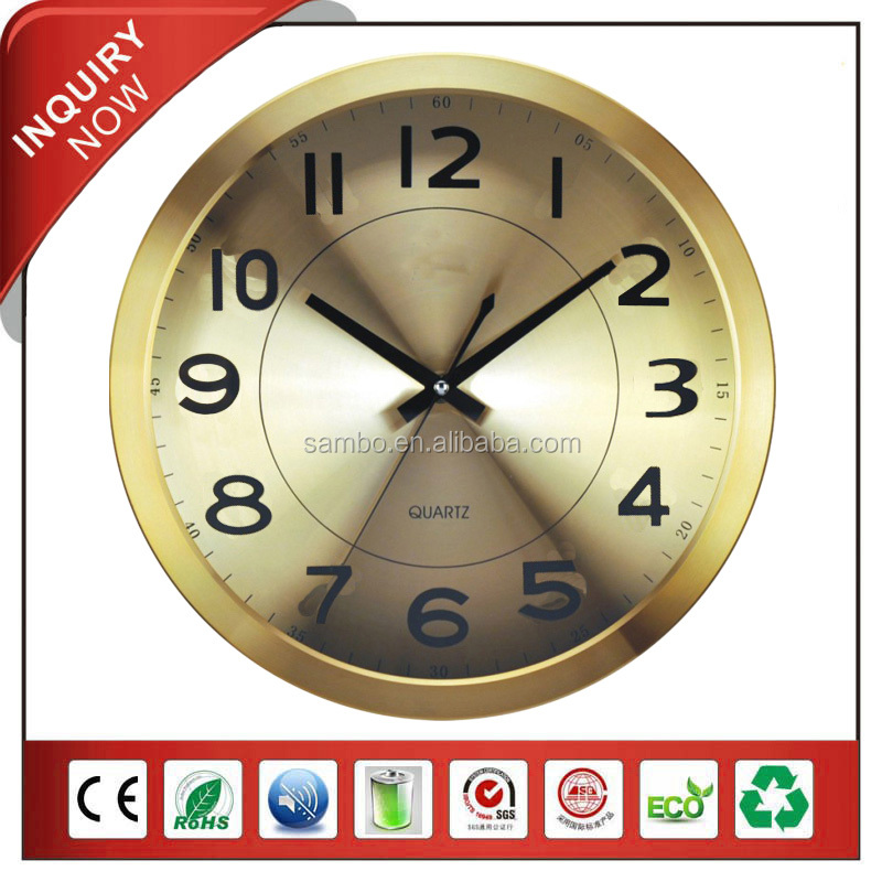 China Yiwu Bronze Color Antique Metal Wall Clock