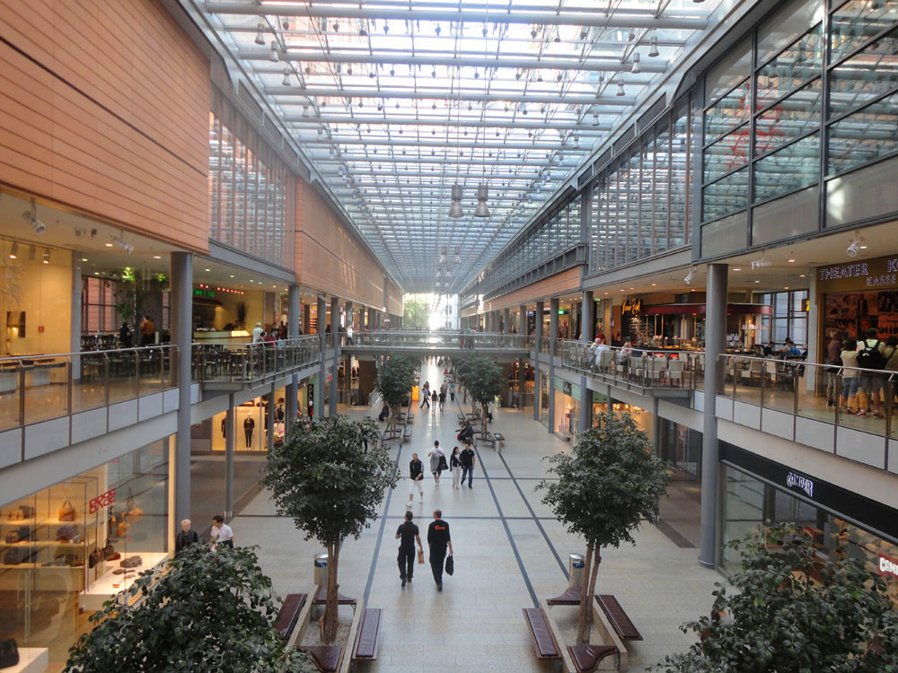 Pre Engineered Steel Structure Building Shopping Mall