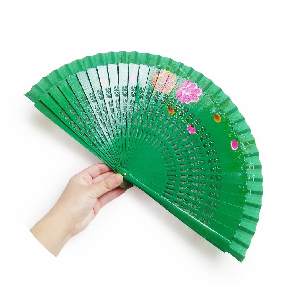 Wood Spanish Wooden Folding Hand Fan Hand Painted religious <strong>crafts</strong>