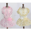 Printer Flower Skirts Apparel Lovely Lace Dog Wedding Dress for Pet Clothes