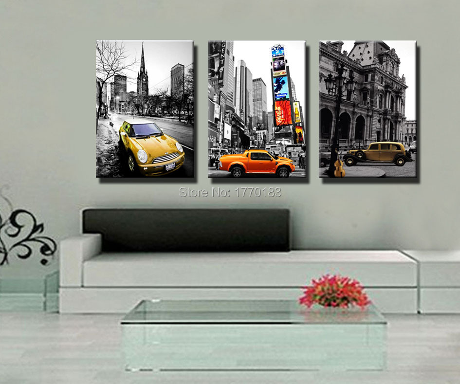 New York City Modern Canvas Painting Print Picture Home: Modern Photo Prints Black And White Canvas Picture Classic