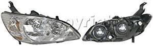 HEADLIGHT honda CIVIC COUPE 04-05 HYBRID SEDAN light lamp rh