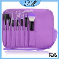 Eyeshadow Lip Brush Cosmetic 7pcs Makeup Brushes Kit set purple